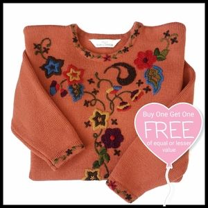 ⭐BOGO⭐ St Michael Floral Embroidered Sweater